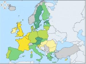 EU organic acreage