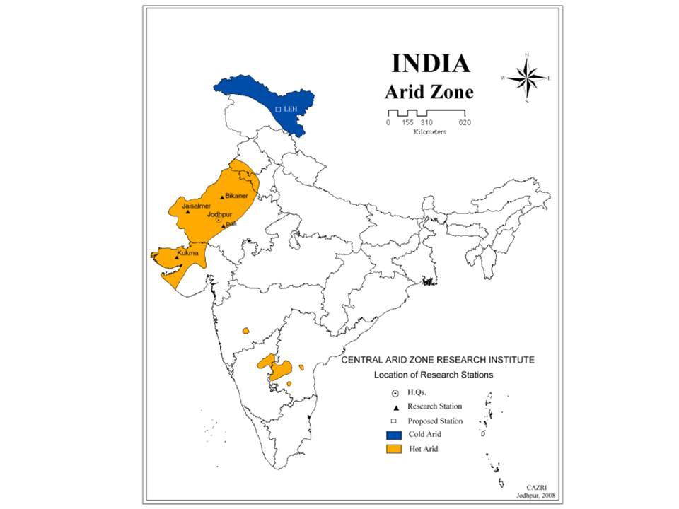 Arid zone of India